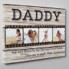 Letter From Daughter To Dad Custom Photo Canvas