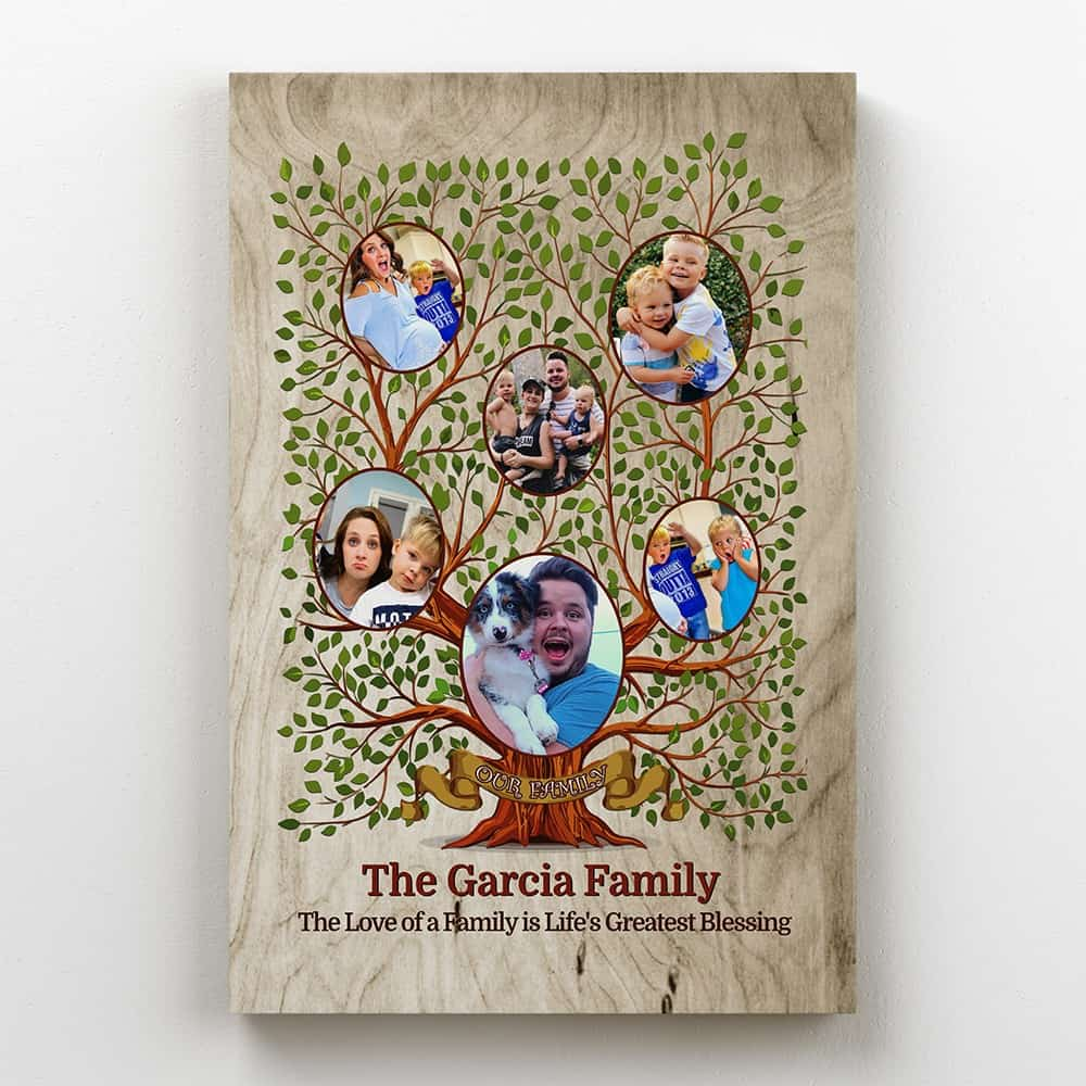 Family Tree Custom Photo Canvas