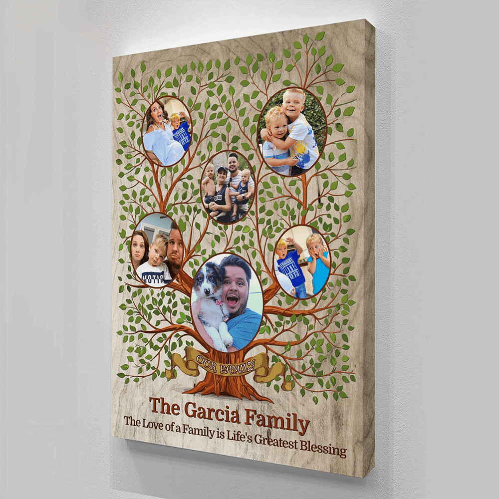 custom photo family tree canvas