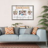 family where life begins and love never ends custom photo canvas 02