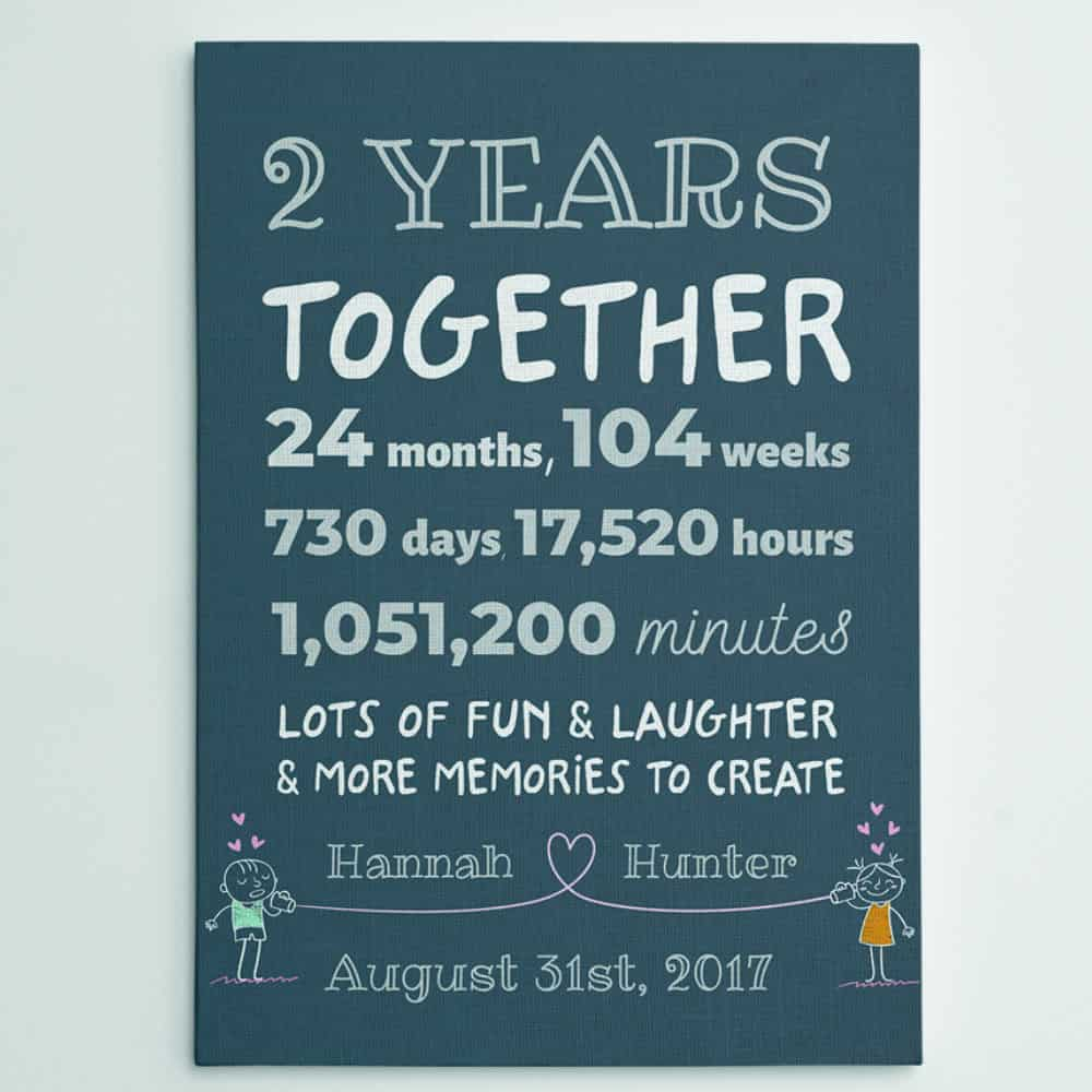 2nd Anniversary Custom Canvas Gift