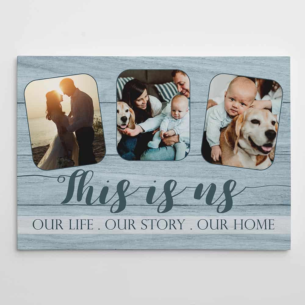 housewarming gift Family our life our story our home sign wedding gift