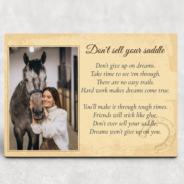 Don't Sell Your Saddle desktop plaque