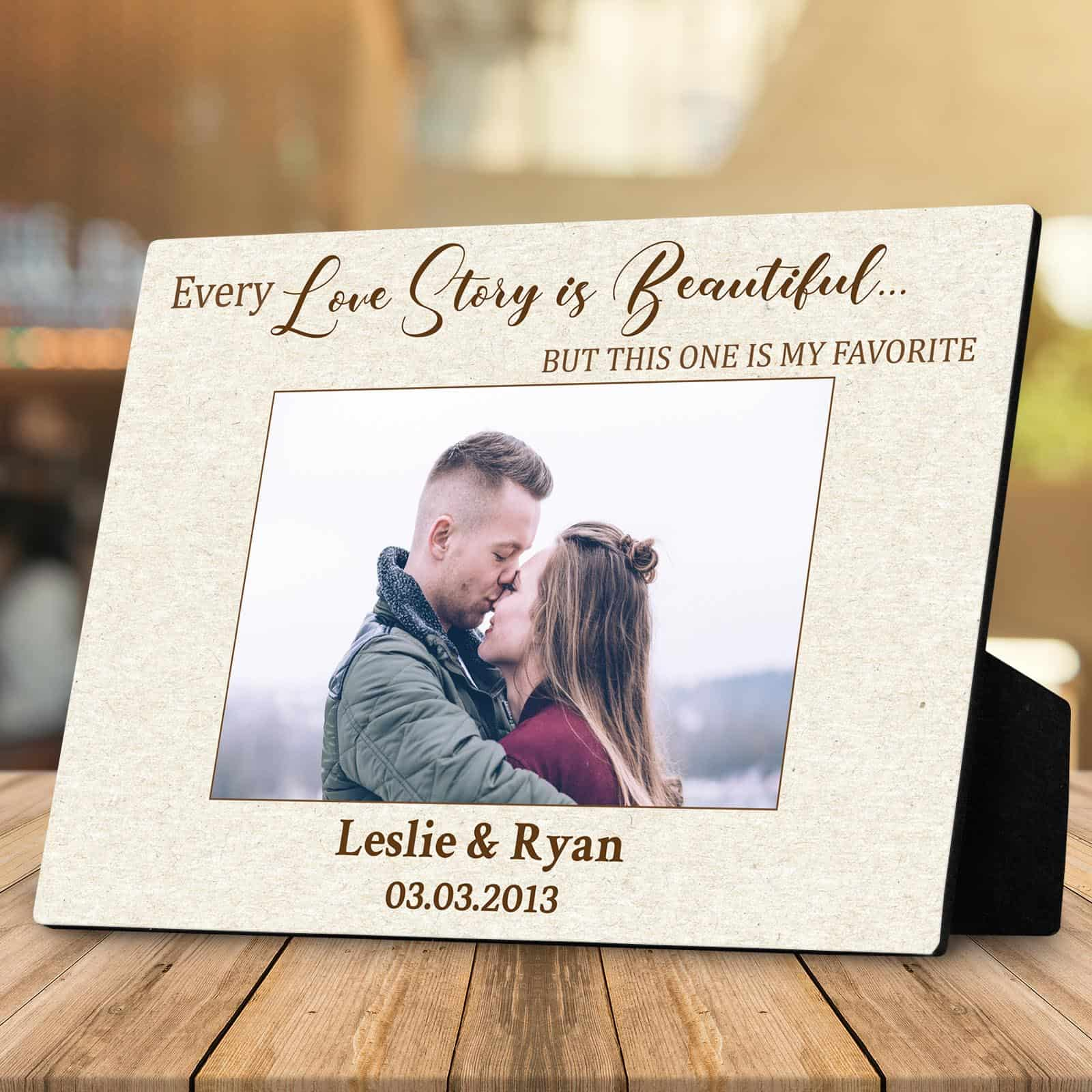 Personalized Couple Name KISS In Love Wall Art Plaque Sign Anniversary WeddiNg