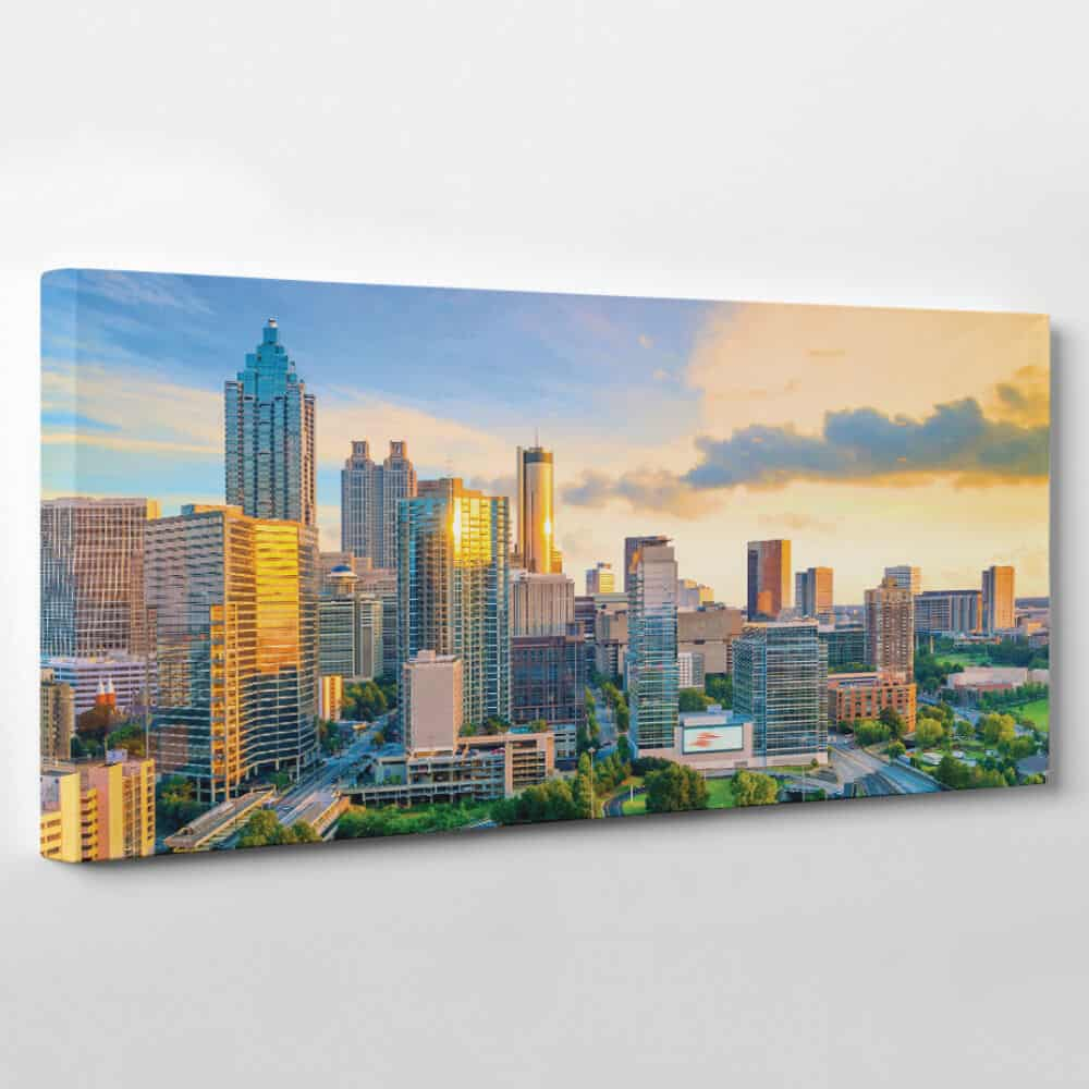 atlanta georgia skyline panoramic canvas wall art