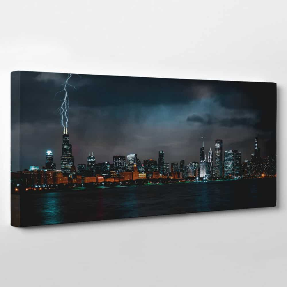 Chicago, Illinois Skyline Canvas Wall Art – Collection A