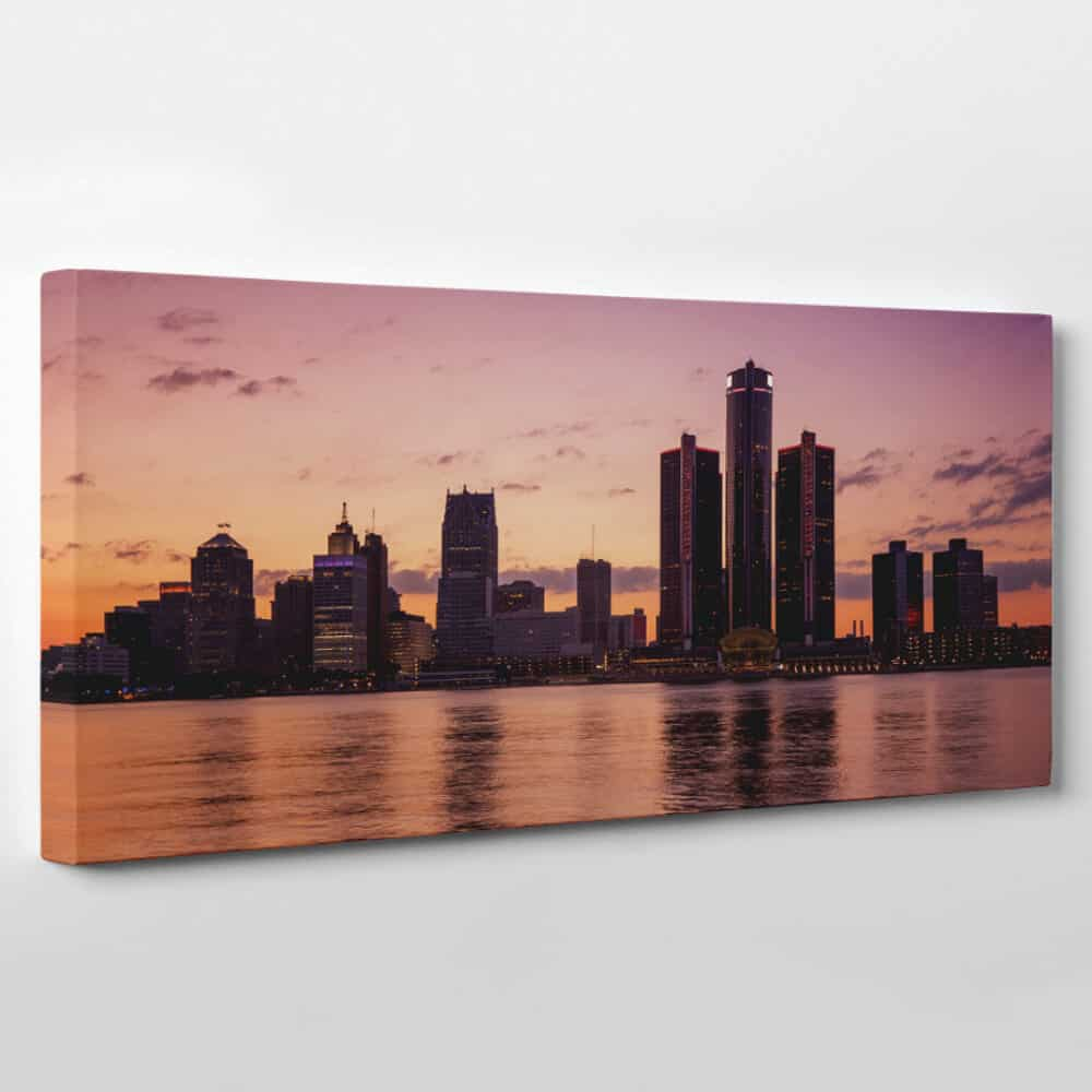 Detroit Michigan Skyline Canvas Wall Art Collection A 365canvas