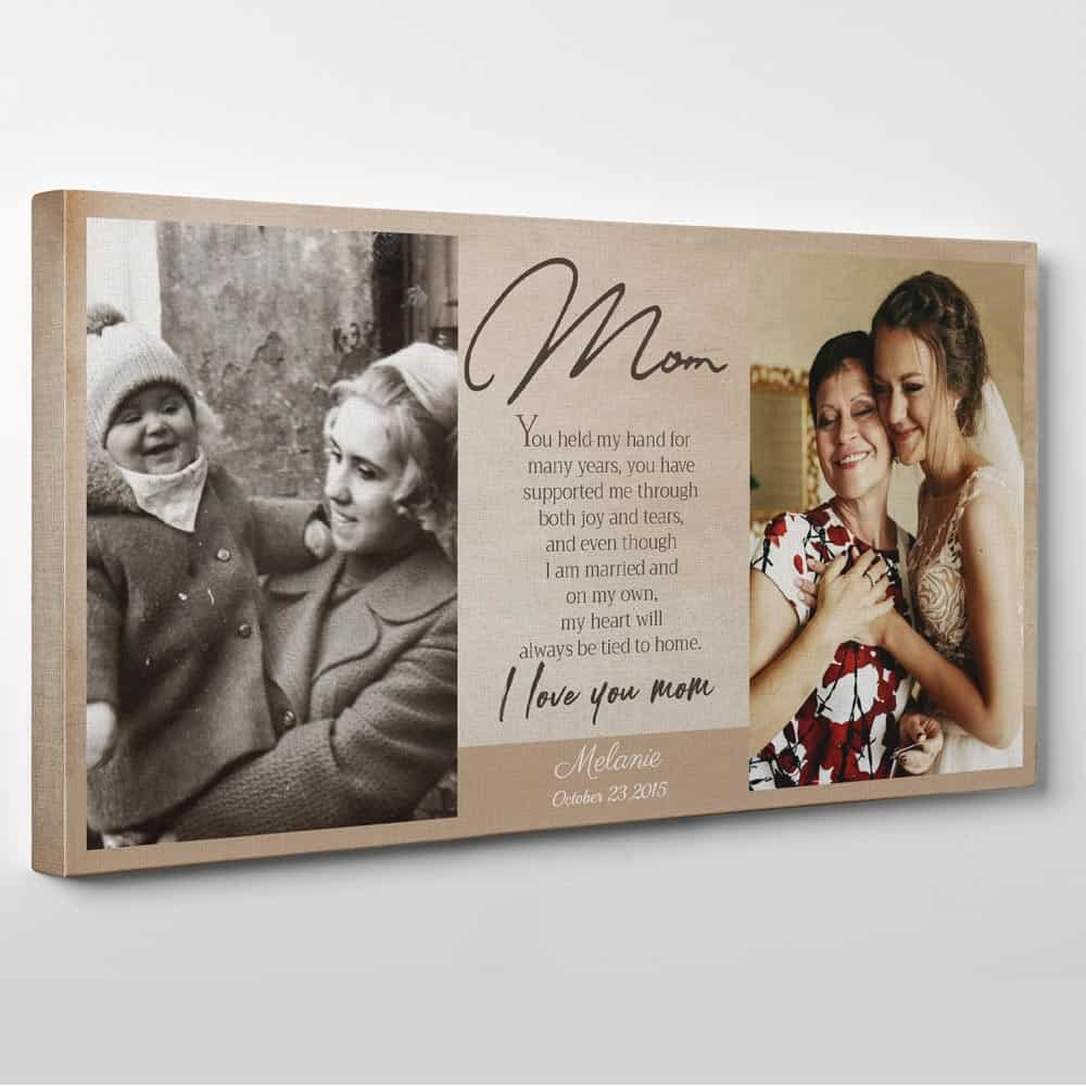 I Love You Mom poem photo canvas