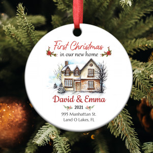First Christmas In Our New Home 2021 Personalized Ornament
