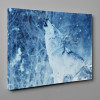 White Wolf Howling In The Winter Snow Canvas Wall Art