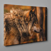 Autumn Wolf Side View Canvas Wall Art