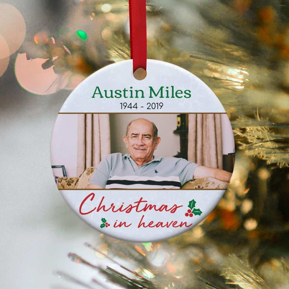 Christmas in Heaven Personalized Ornament - memorial gift idea