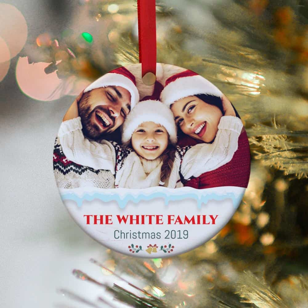 Personalized Family Photo Christmas Ornament 2019