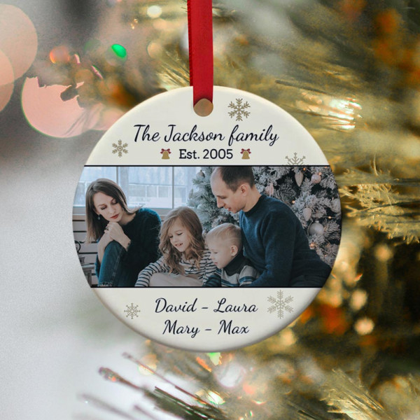 Personalized Family Photo Christmas Ornament