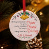 home family blessing personalized family name christmas ornament - family reunioun gift - christmas gift idea