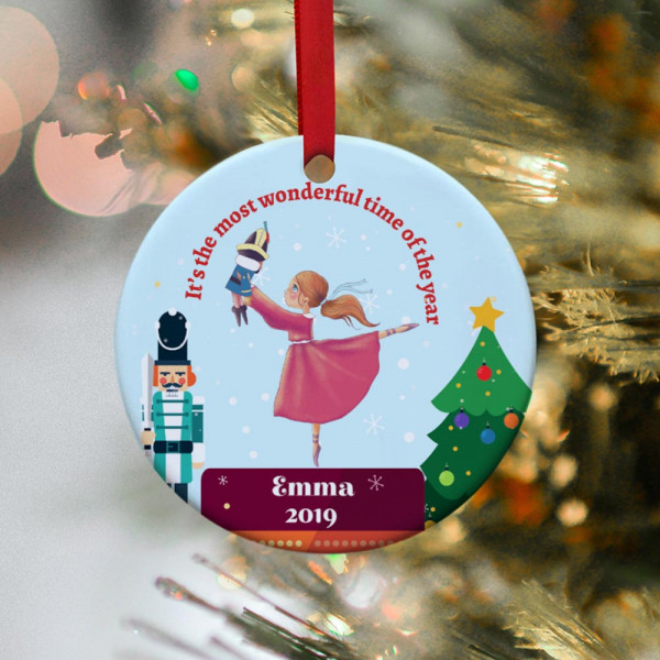it's the most wonderful time of the year - custom ballerina Christmas ornament