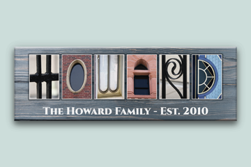 Family Name Signs Letter Art Canvas Print