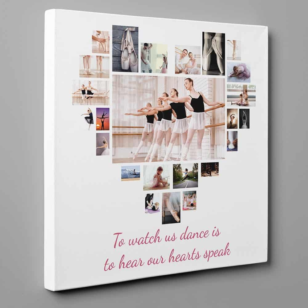 Dance Heart Photo Collage Canvas Print