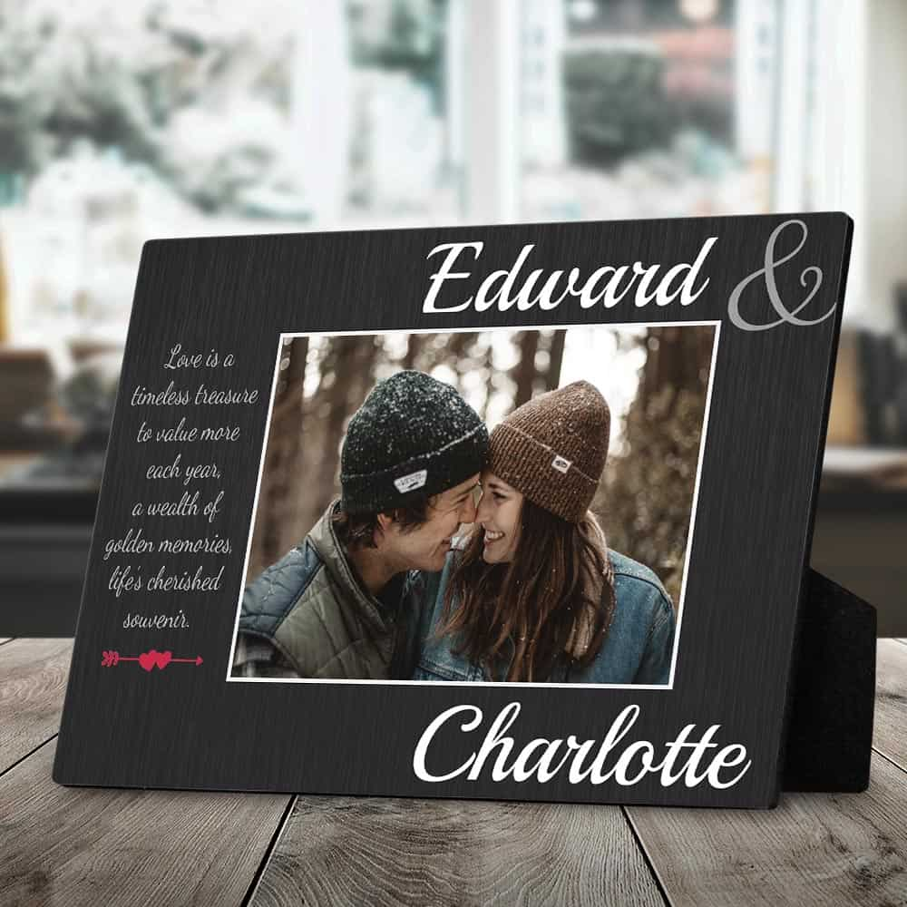 couple in love custom photo plaque