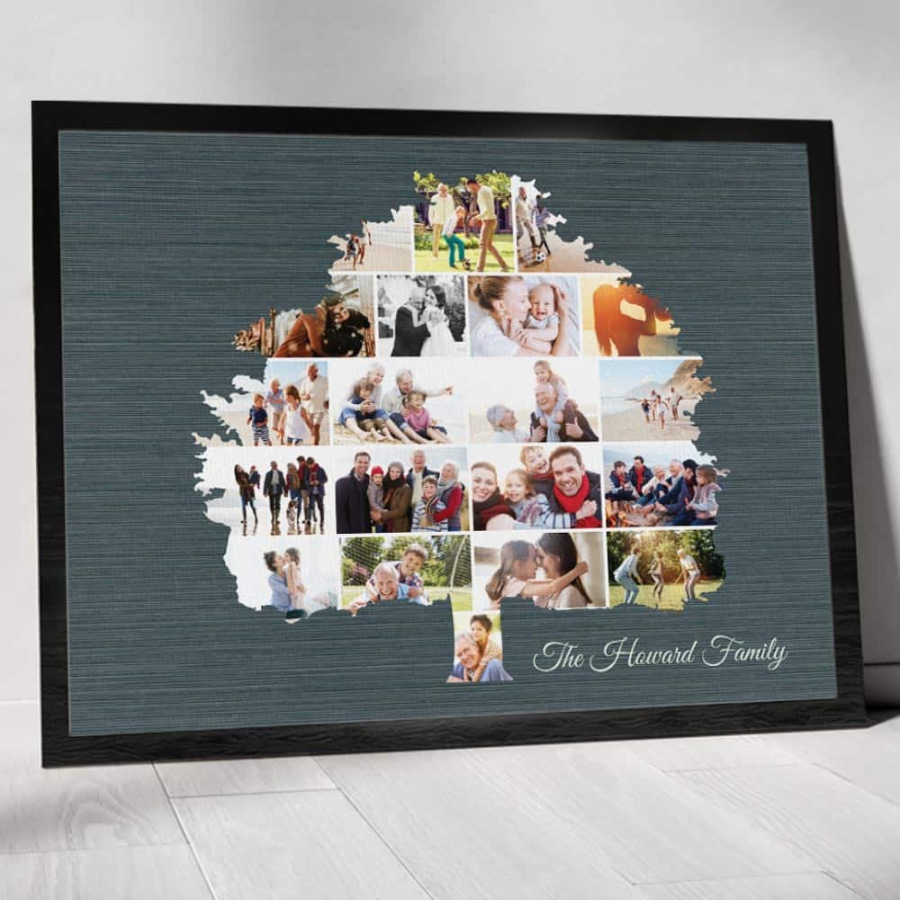 family tree photo collage custom photo canvas print