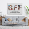 BFF Friends Are Chosen Family Photo Collage Canvas Print over the sofa