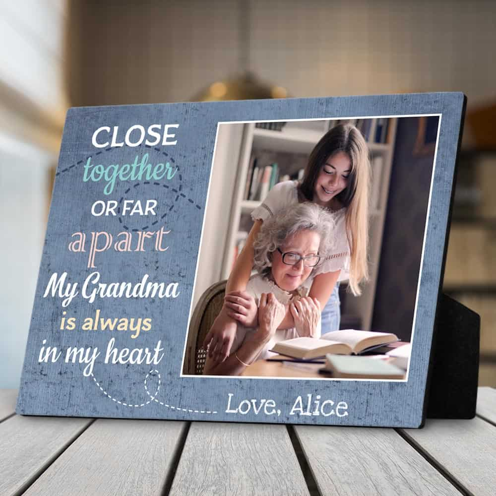 My Grandma Is Always In My Heart Photo Desktop Plaque