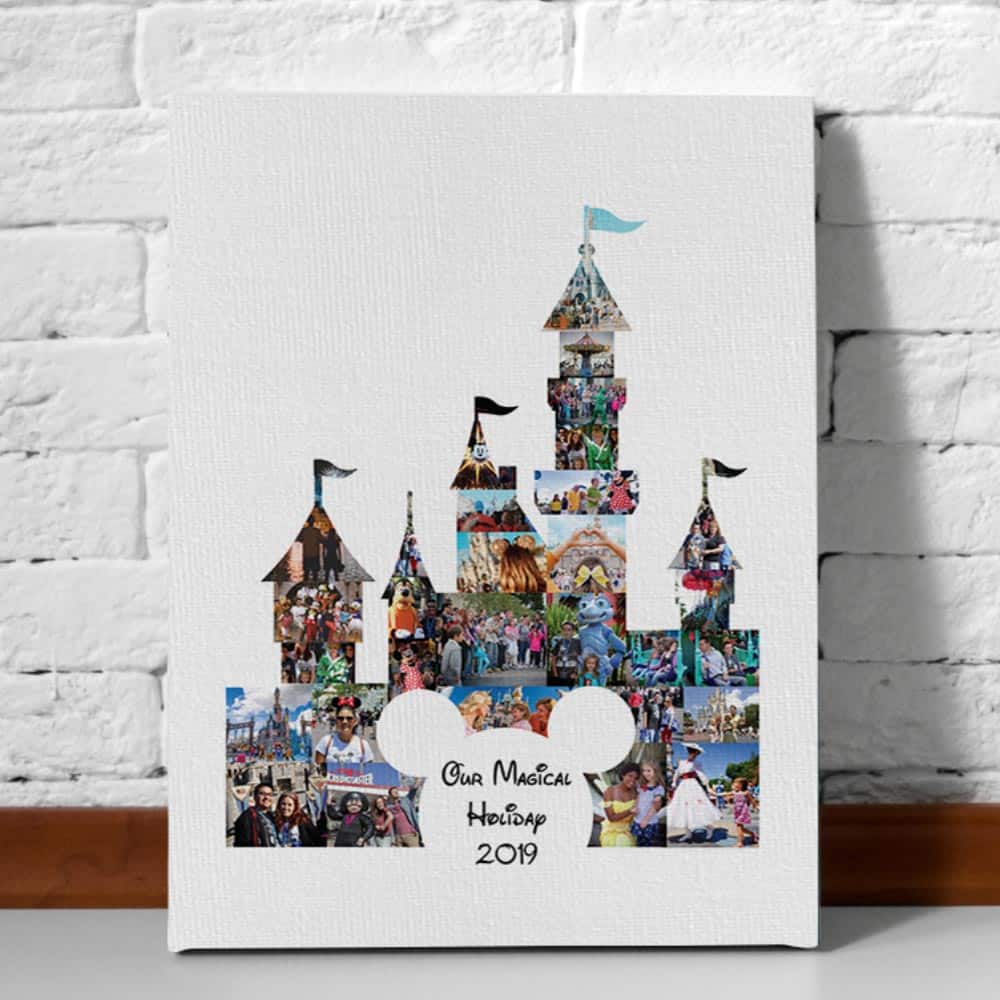 Our Magical Holiday Photo Collage Canvas Print