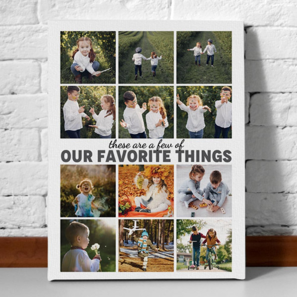 these are a few of our favorite things photo collage custom canvas print