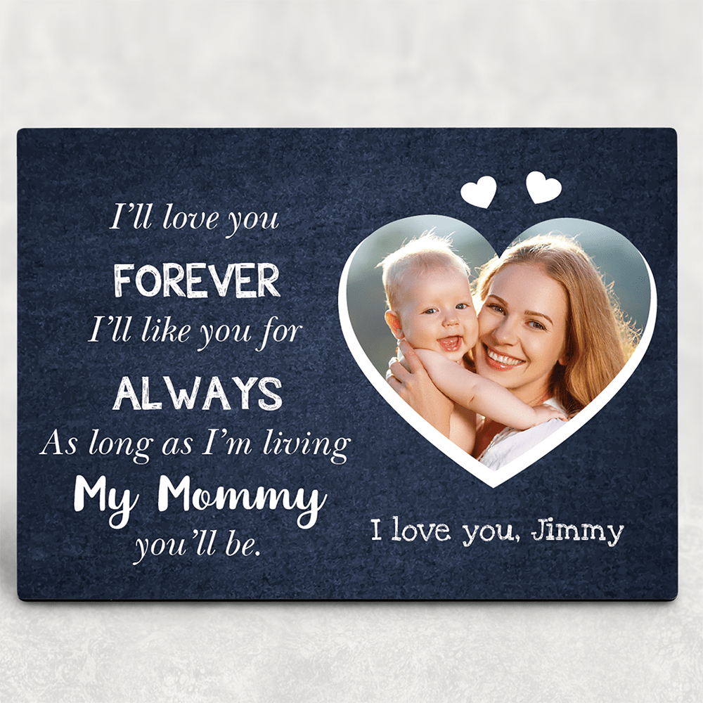 love you forever desktop photo plaque