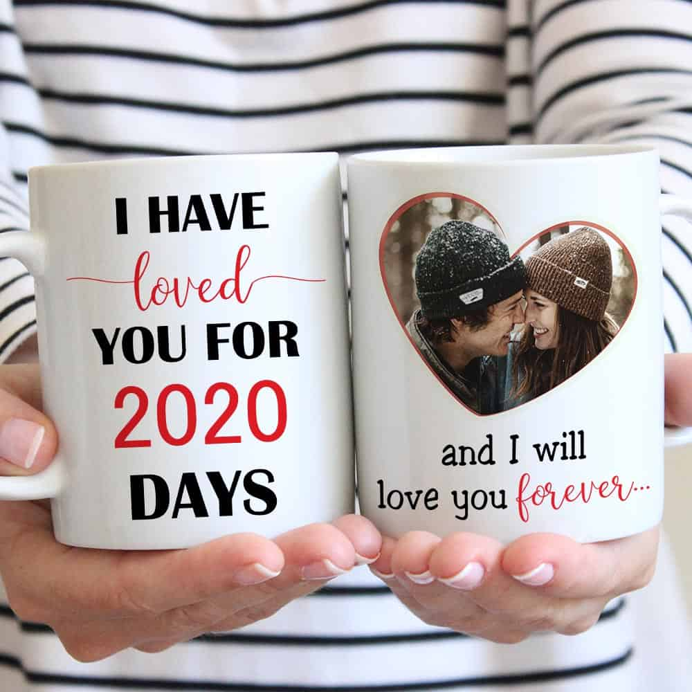 i have loved you for # days custom photo mug
