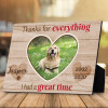 Thanks for everything custom pet photo plaque