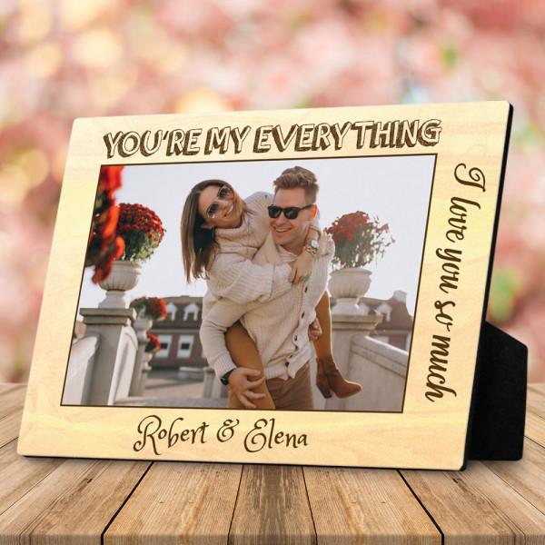 you're my everything custom photo plaque