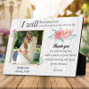 mother of the groom gift custom photo plaque