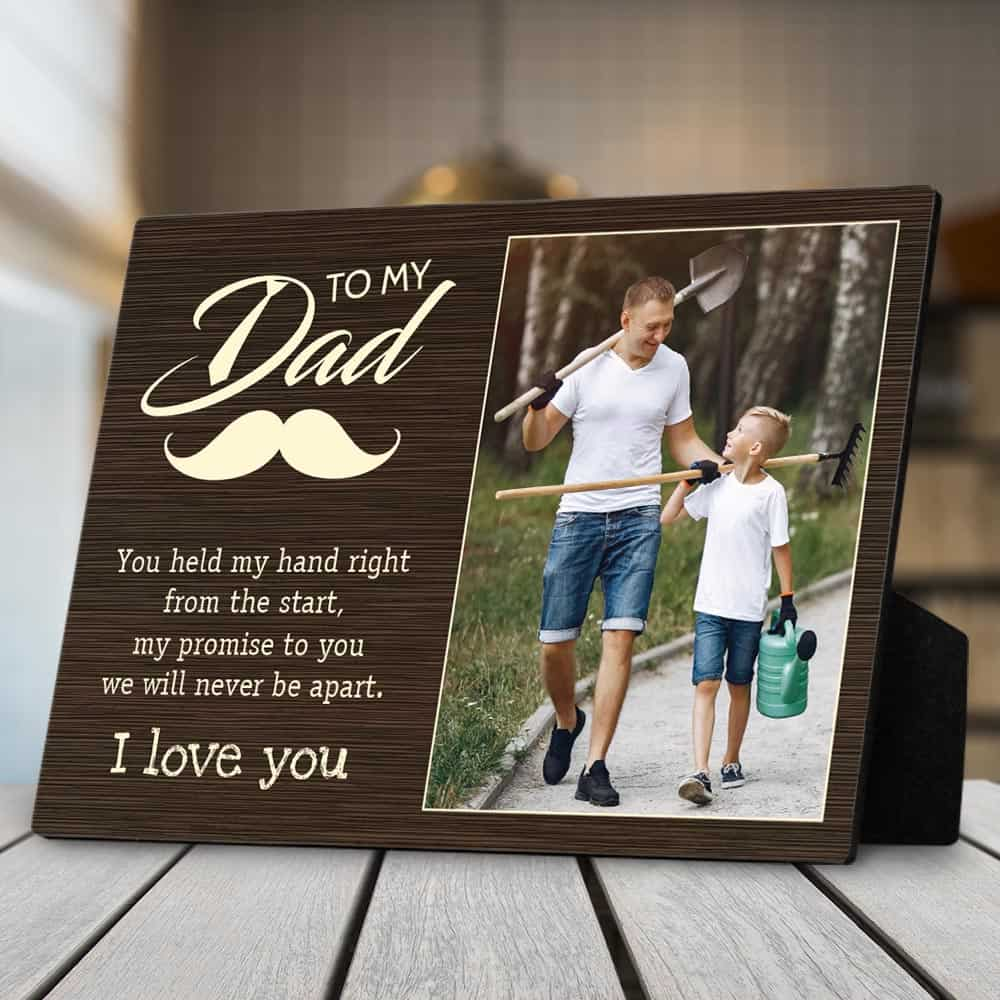 you hold my hand photo custom desktop plaque