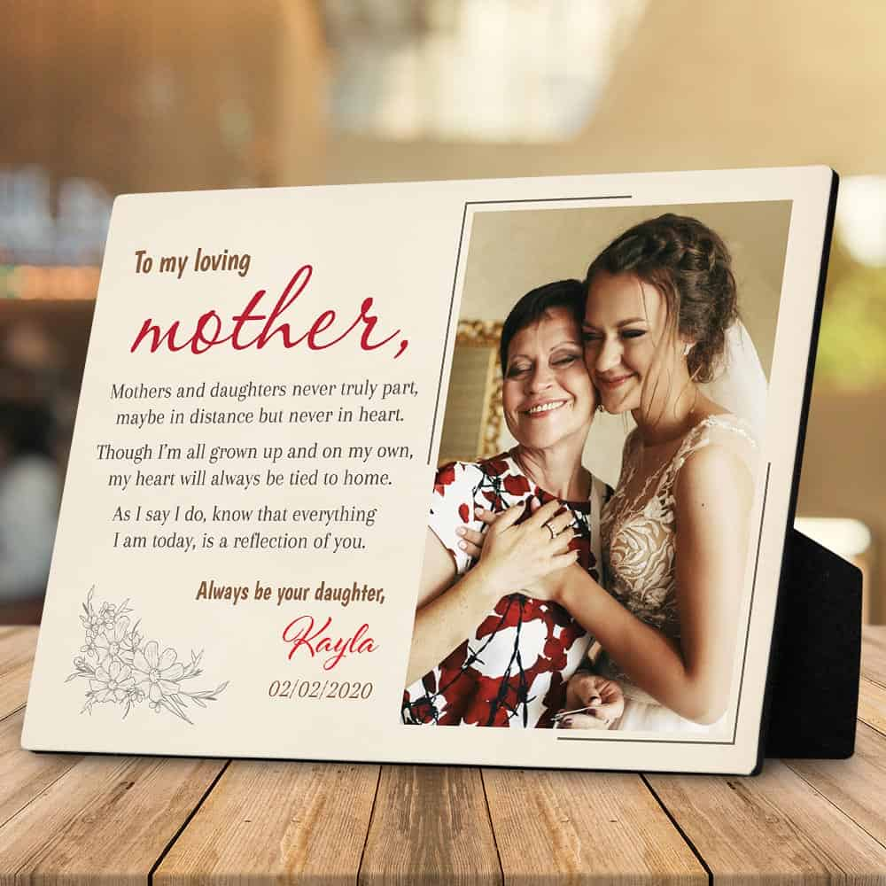 mothers and daughters never truly part custom desktop photo plaque