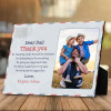 dear dad letter custom photo plaque - father's day gift for dad