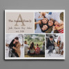 Personalized Family Name Monogram Photo Collage Canvas