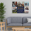 A photo collage canvas print on the wall with the quote - Good Friends Are Like Stars, You Don't Always See Them But You Know They're Always There