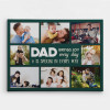 dad brings joy every day canvas print - gift for dad