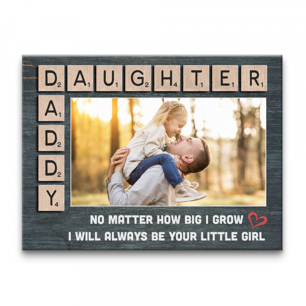 i will always be your little girl custom photo canvas print