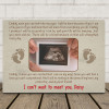 Daddy I Can't Wait To Meet You - Sonogram Desktop Photo Plaque