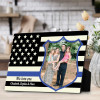 We Love You - Thin Blue Line Desktop Photo Plaque For Police Dad