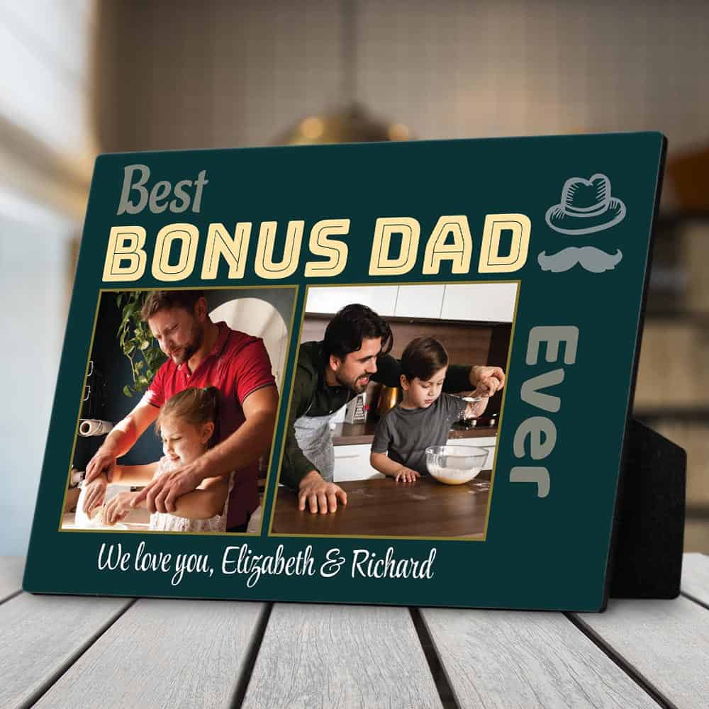 Best bonus dad ever plaque - gift for stepdad