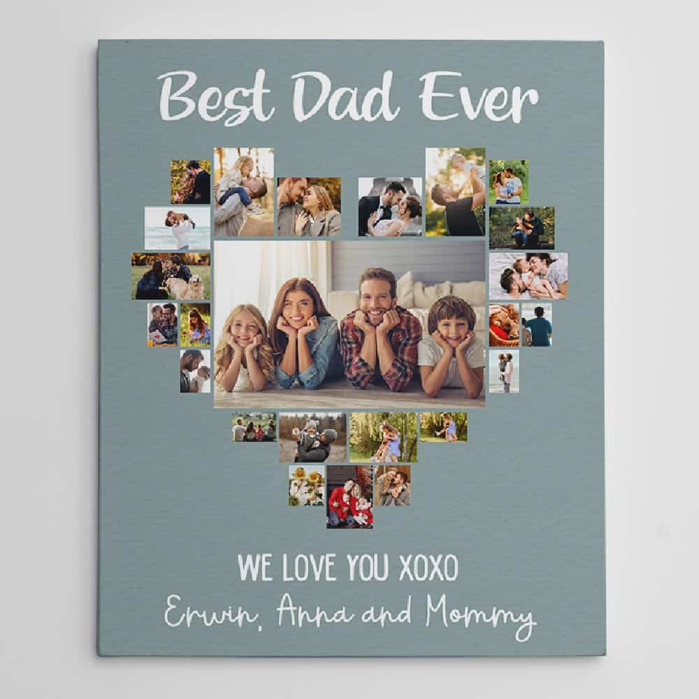 best dad ever photo collage canvas - Father's Day gift for dad
