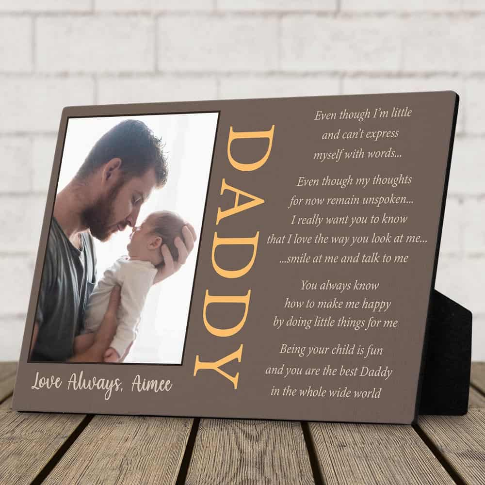 daddy poem desktop plaque desktop plaque