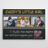 a daughter may outgrow your lap custom photo canvas print