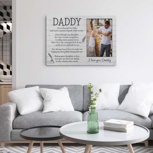 Father's Day Poem From Daughter - Custom Photo Canvas Print On The Wall