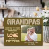 Grandpas Bring A Little More Wisdom Warmth Happiness And Love To Every Life They Touch - Desktop Photo Plaque