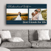 Husband And Wife Best Friend For Life Custom Photo Canvas Print