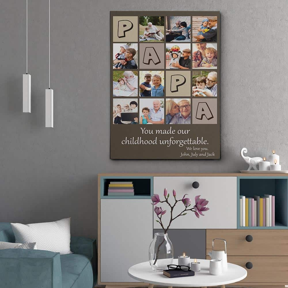you-made-our-childhood-unforgettable- collage-canvas-print